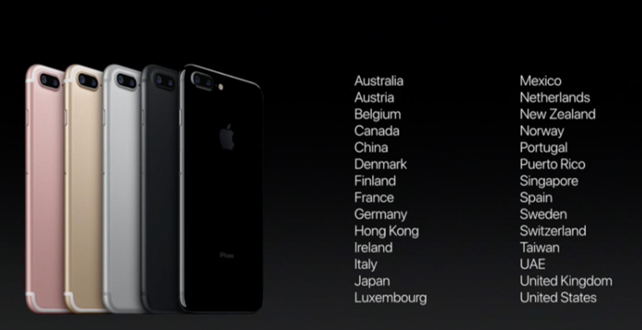 iPhone 7 disponibilità in Italia