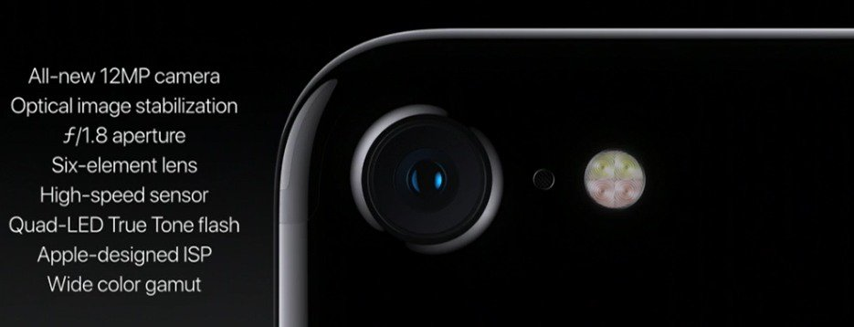 iPhone 7 sensore fotografico