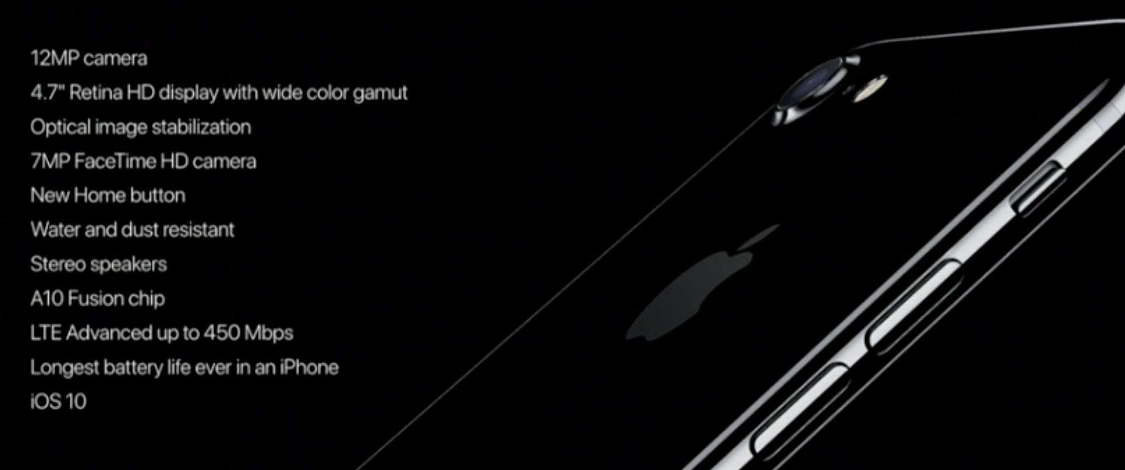 iPhone 7 specifiche tecniche e caratteristiche
