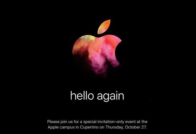 Evento Apple hello again 27 ottobre