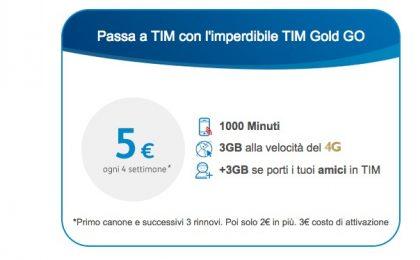 TIM Gold GO: la tariffa con tanti GB per chi ri-passa