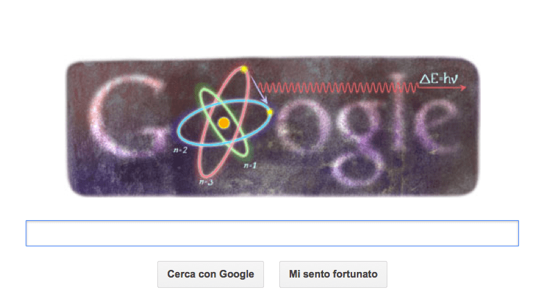google doodle bohr