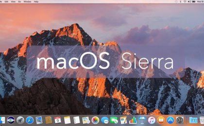 macOS Sierra, il download è automatico