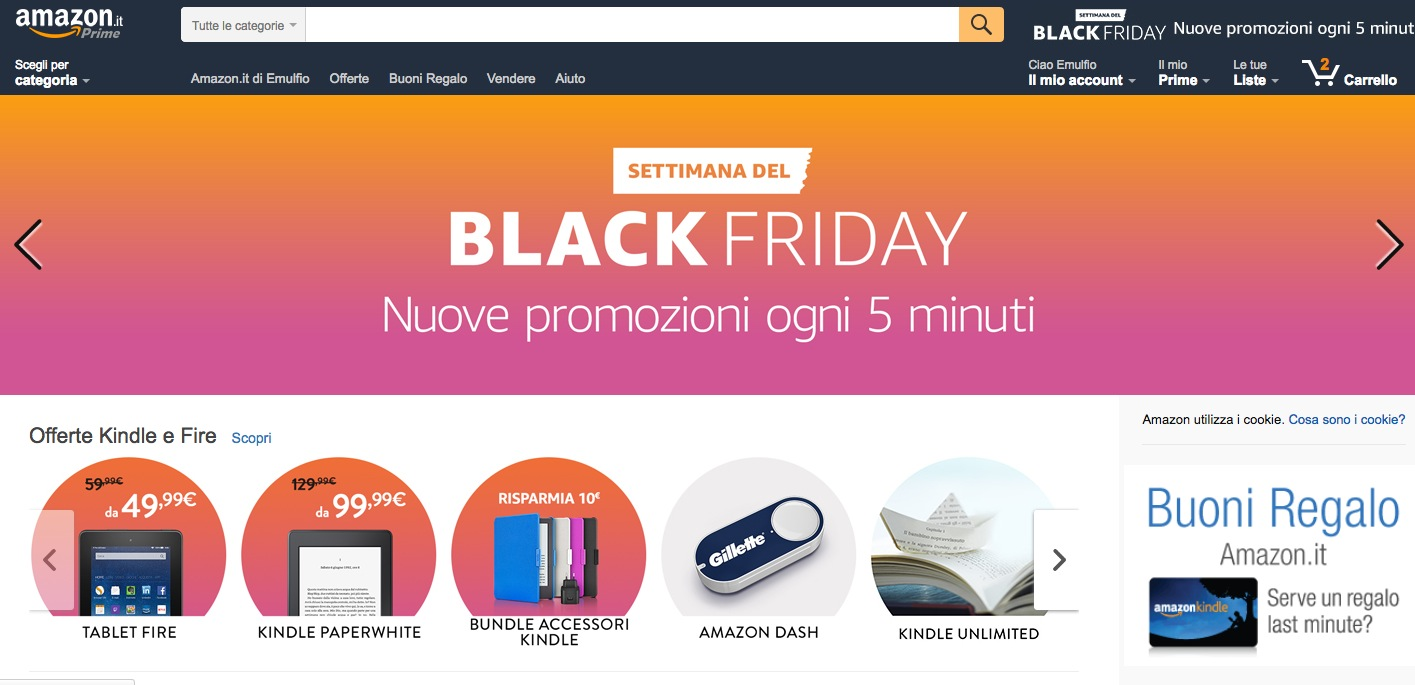 Black Friday Amazon 2016