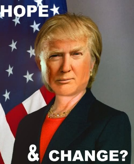 Clinton vs trump meme bandiera