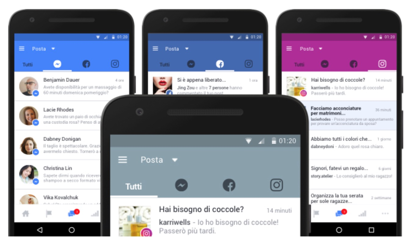 Facebook, Messenger e Instagram: arriva la inbox unificata