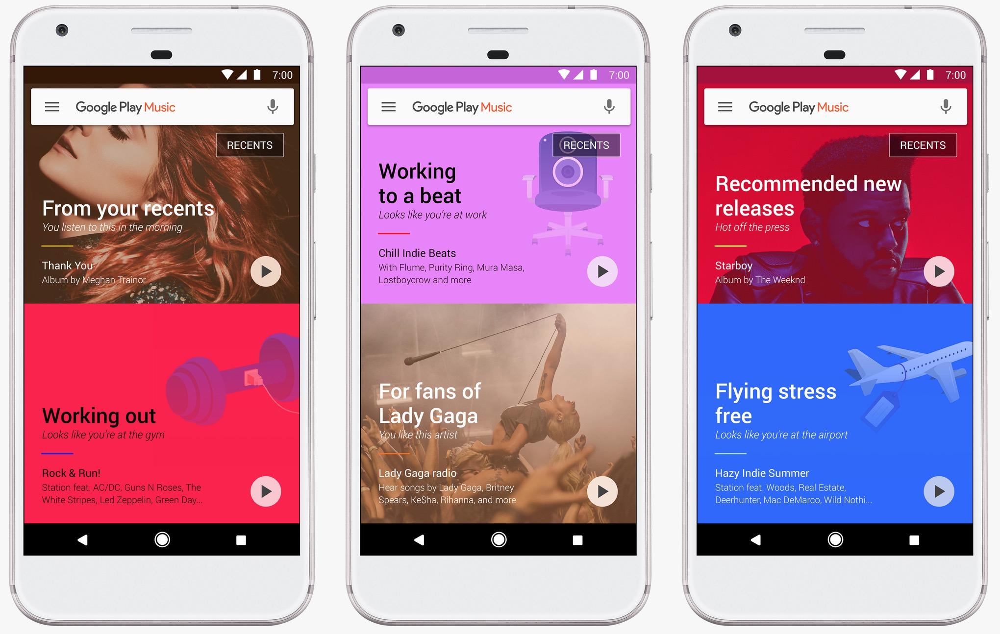 Google Play Music design