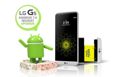 LG G5 in aggiornamento a Android 7.0 Nougat