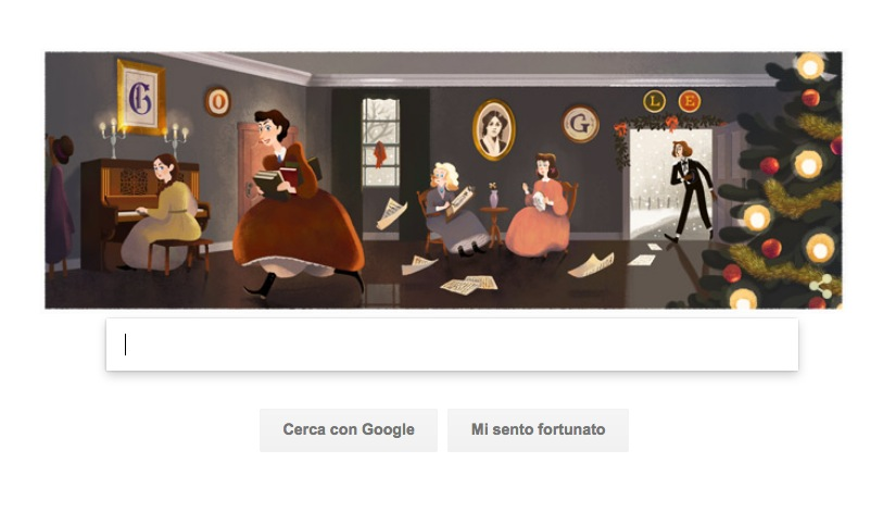 Google Doodle per Louisa May Alcott e le Piccole Donne