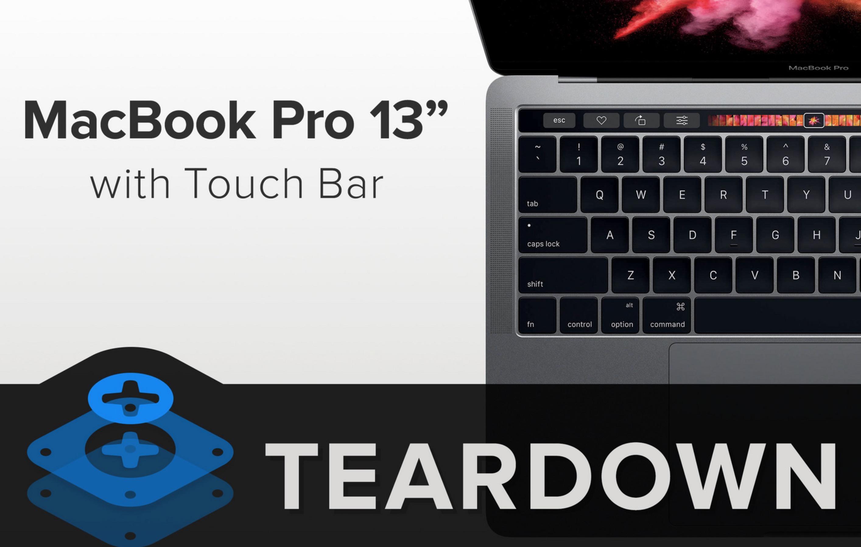 MacBook Pro 2016 con Touch Bar: è impossibile da riparare