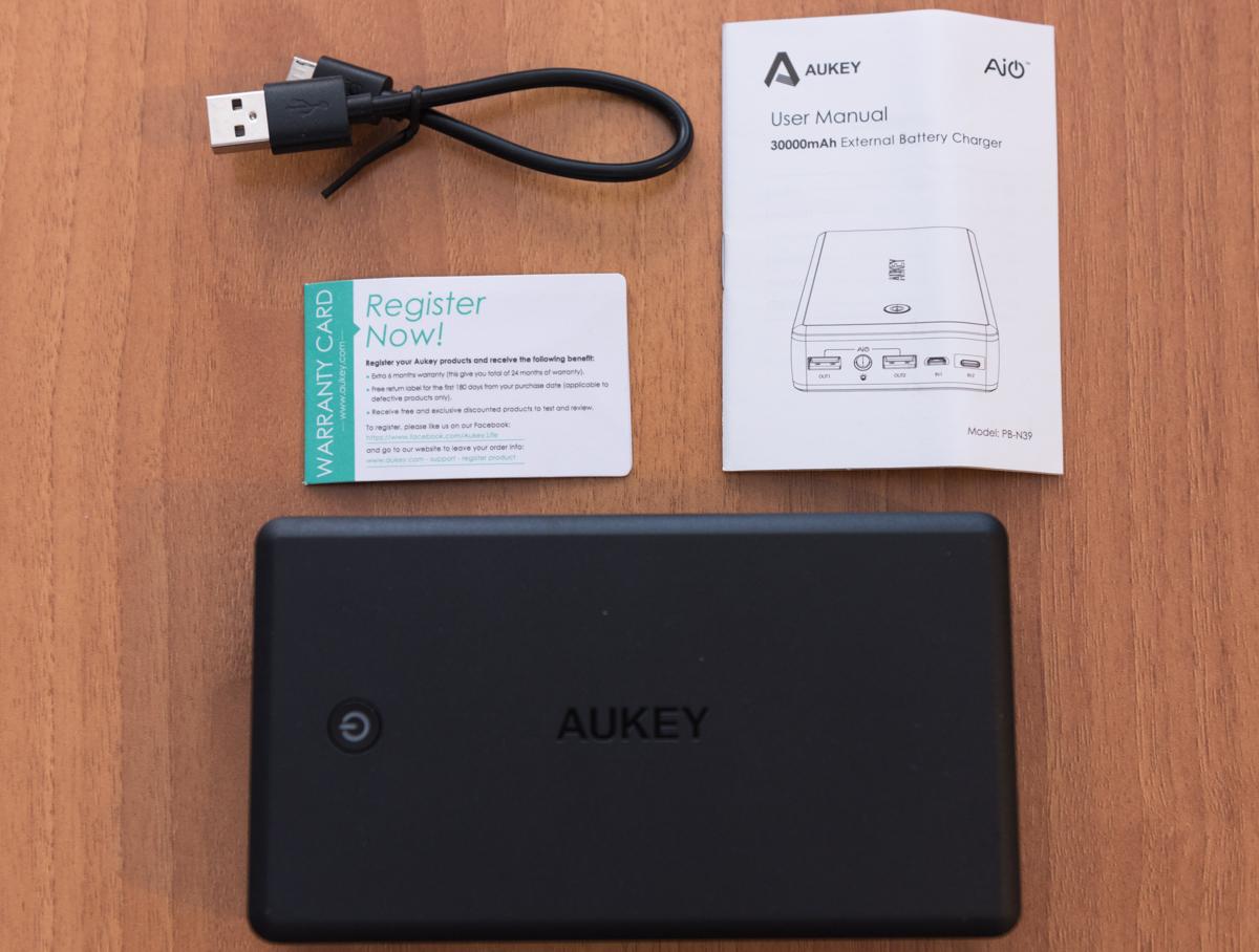 Power Bank Aukey PB N39 contenuto confezione