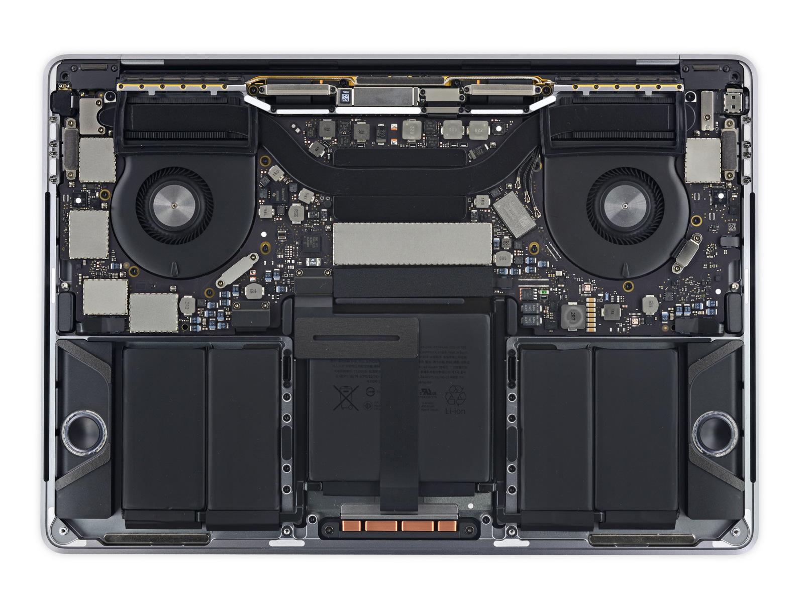 Scheda logica e batteria MacBook Pro 2016
