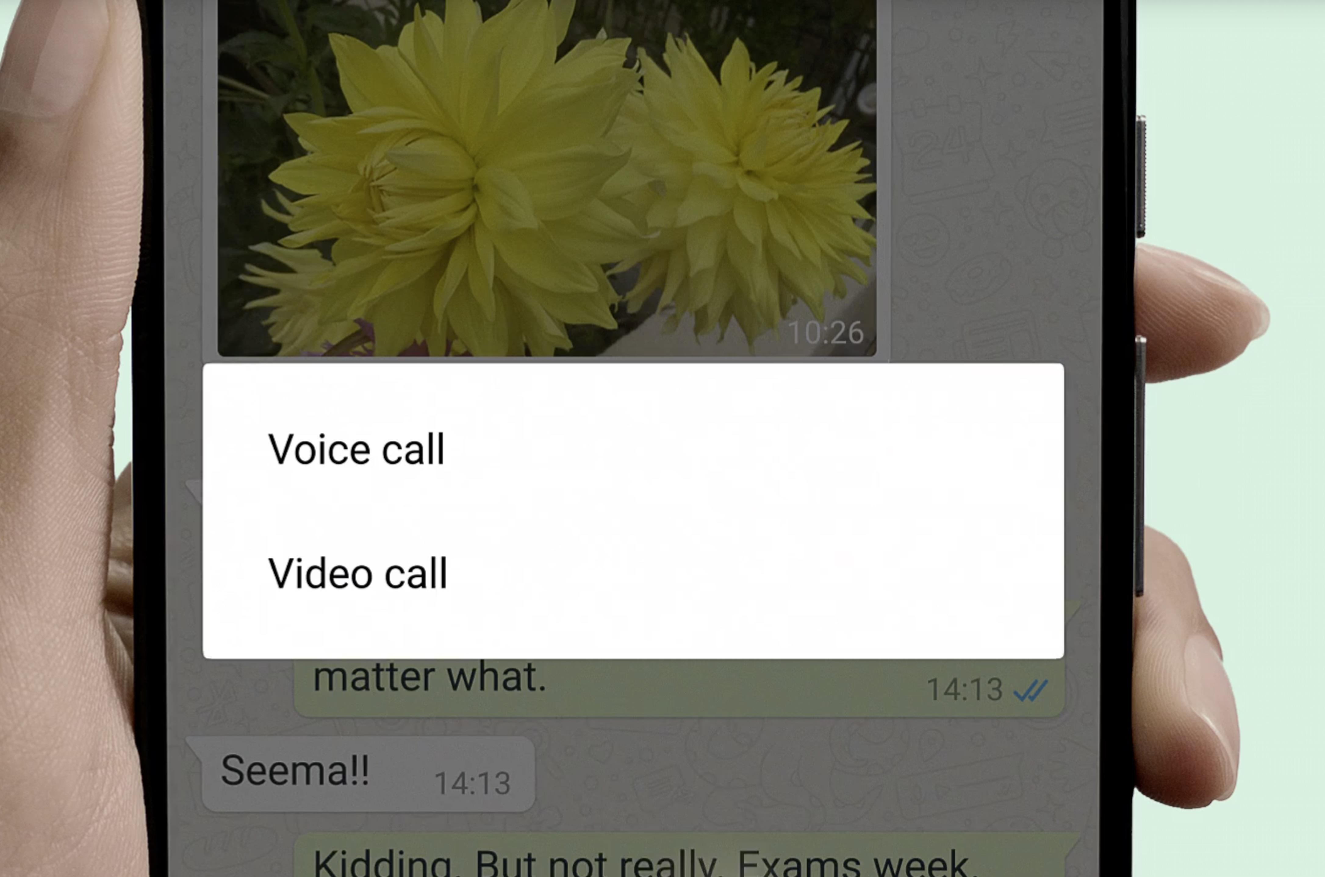 Come videochiamate con WhatsApp