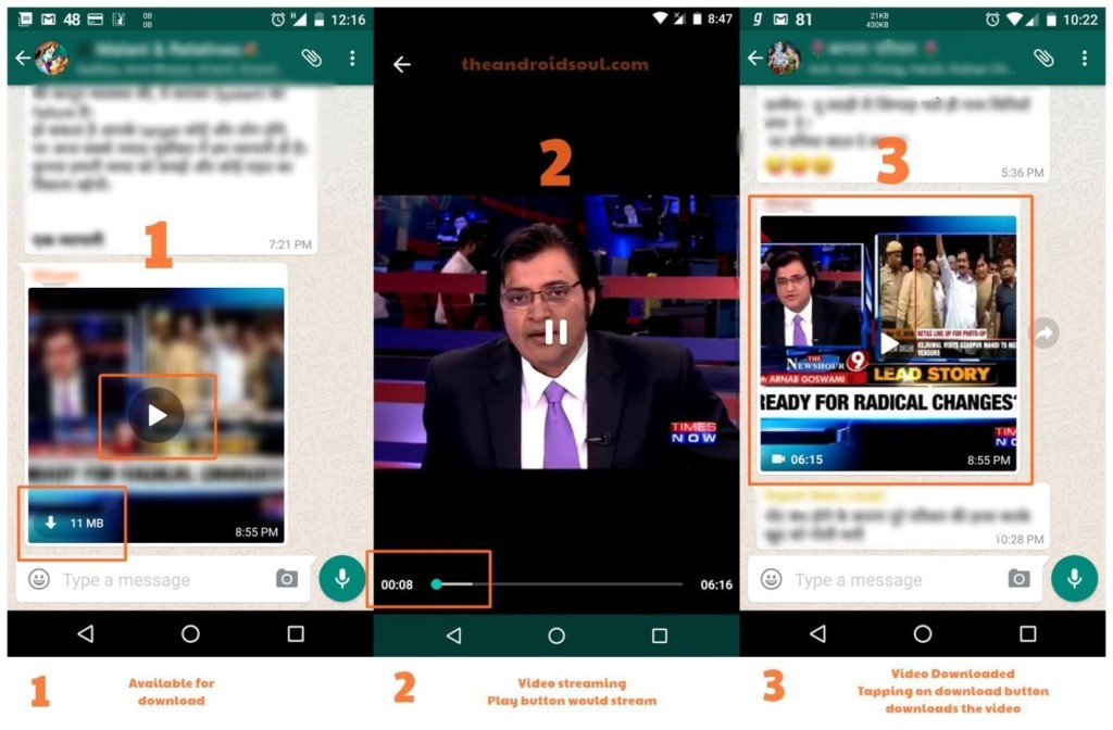 Streaming video chat WhatsApp