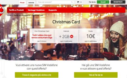 Vodafone Christmas Card 2016: prezzi e dettagli della promozione natalizia