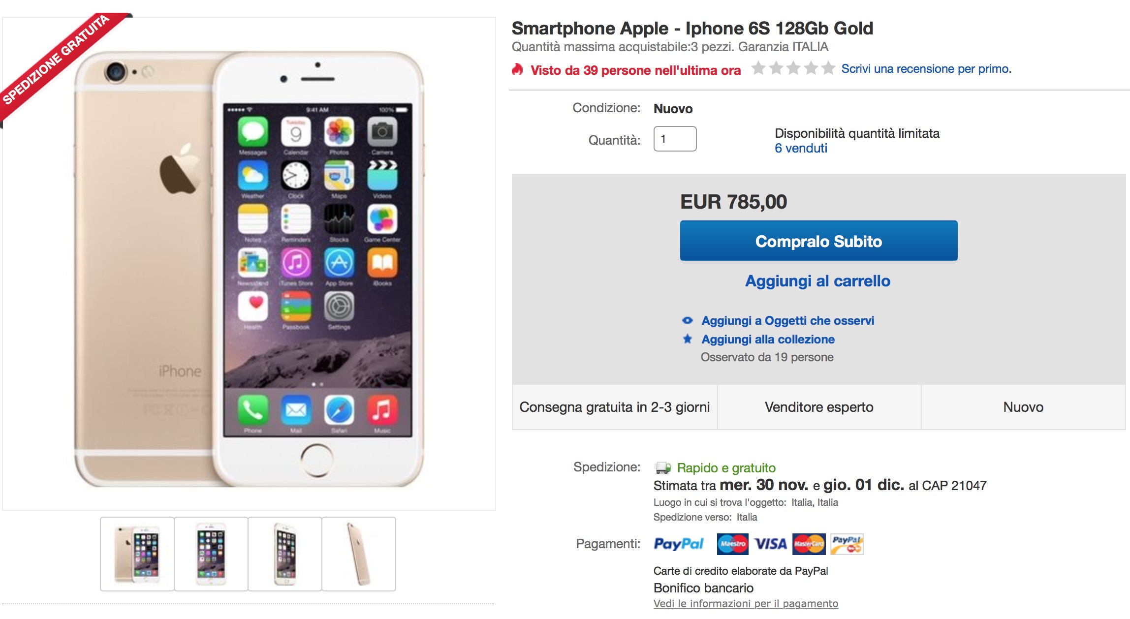 iPhone 6S Cyber Monday eBay