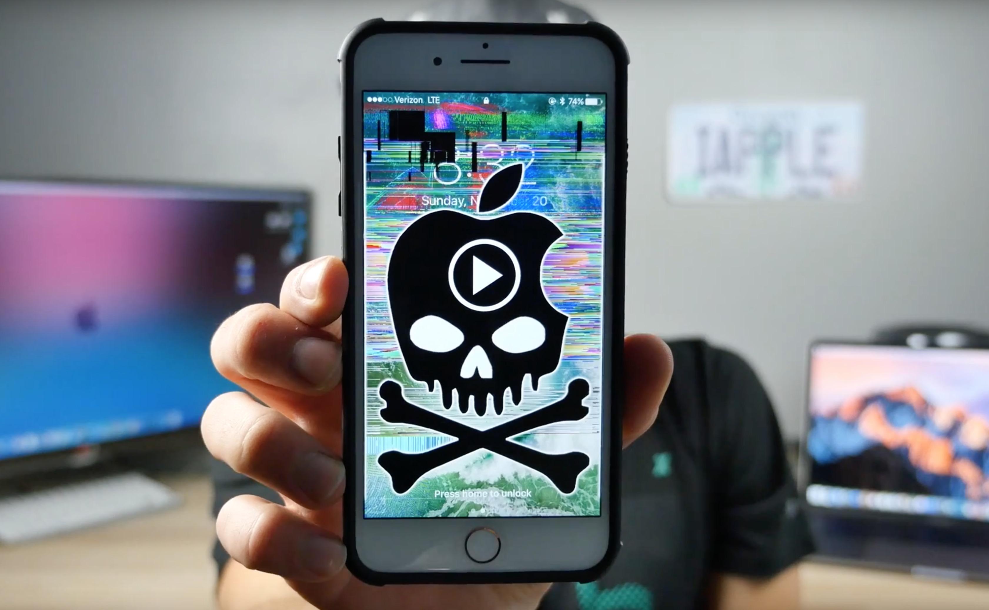 iPhone, il video che manda in crash tutti i melafonini