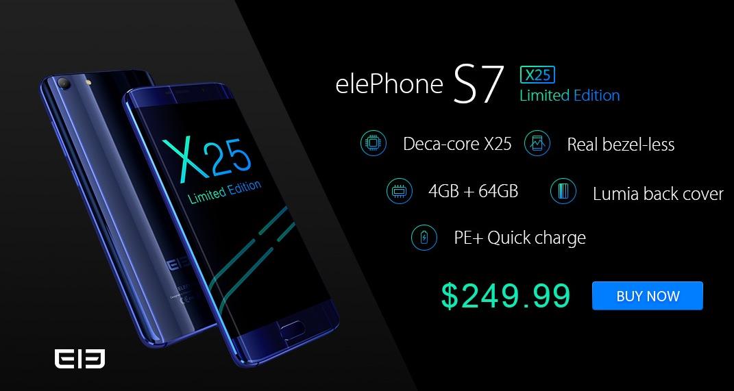 Elephone S7 Limited Edition in uscita: prezzo e scheda tecnica