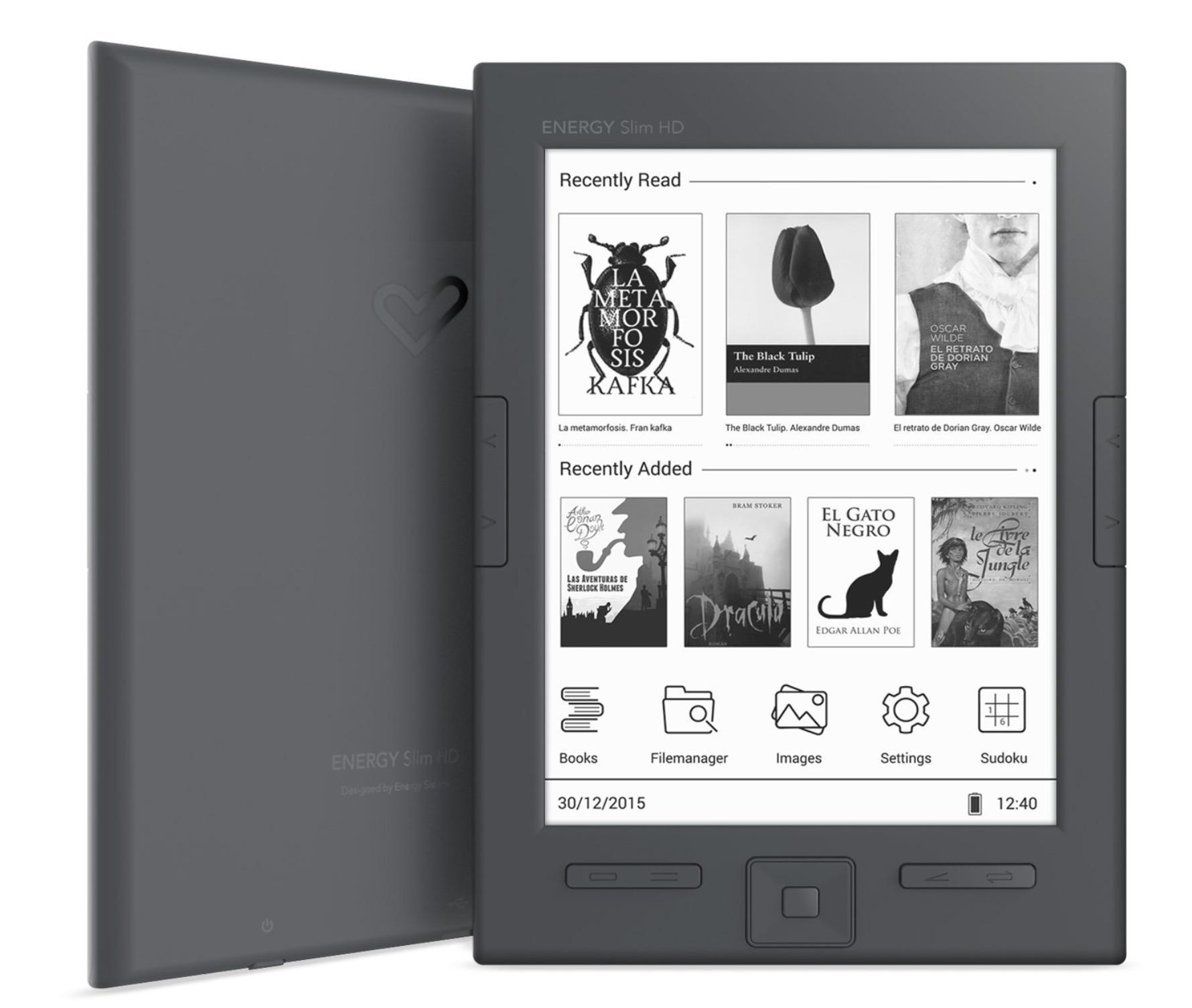 Energy Sistem eReader Slim HD ebook reader