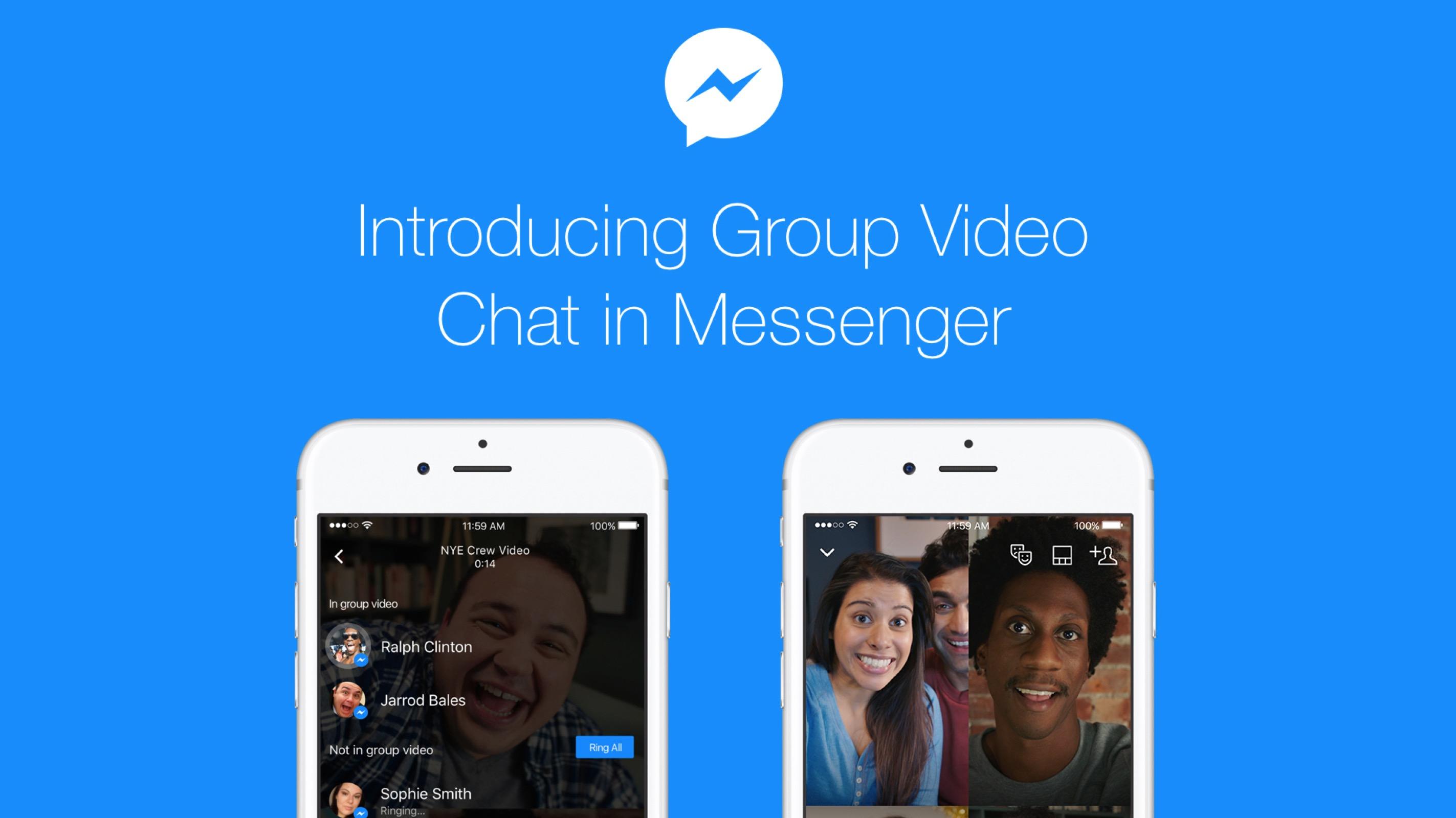 Facebook Messenger lancia le videochiamate di gruppo
