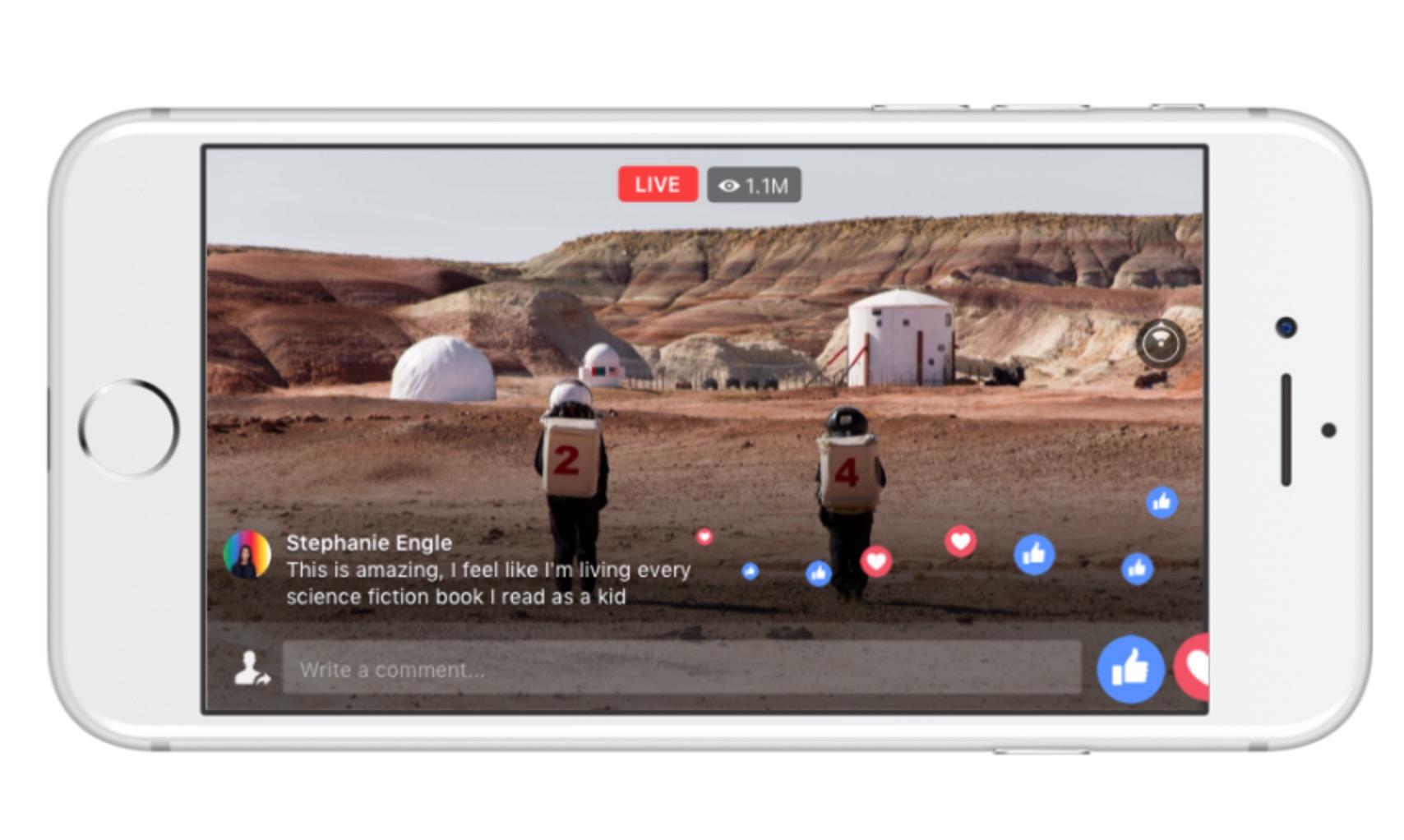 Facebook e National Geographic video live 360 gradi