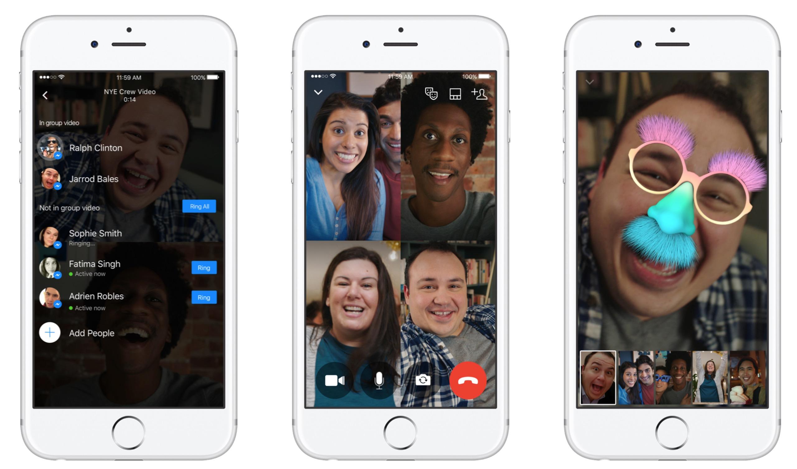 Facebook videochiamate di gruppo iOS