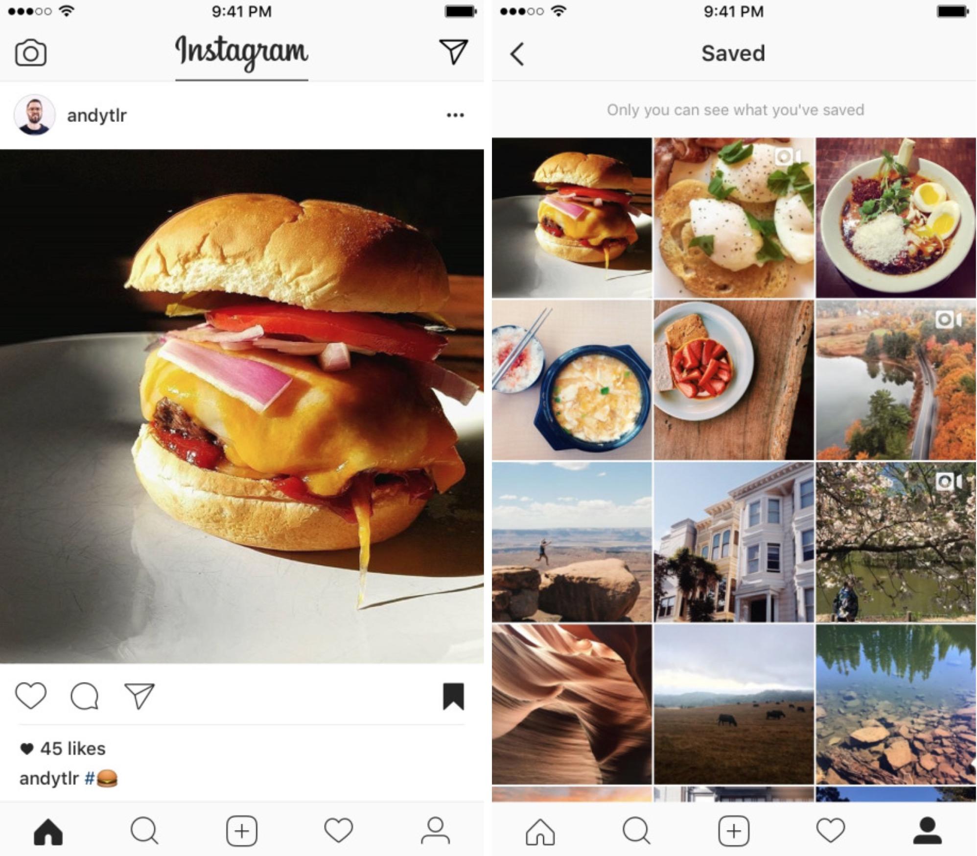 Instagram preferiti salvataggio post