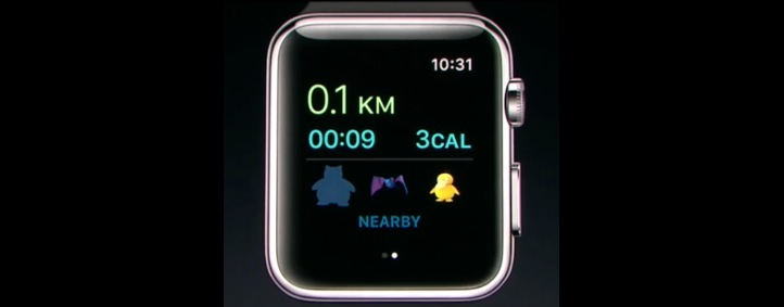 Pokemon Go Apple Watch ui