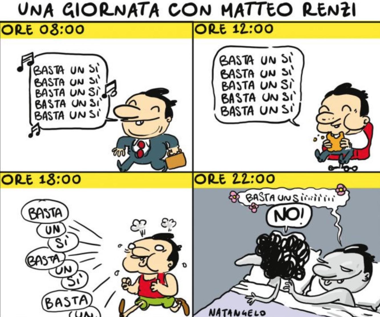 Referendum e giornata Matteo Renzi