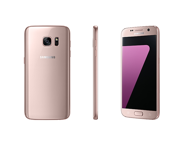 Samsung Galaxy S7 and S7 edge in pink gold