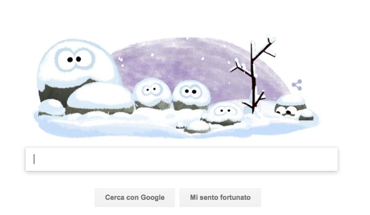 Google Doodle per il solstizio d'inverno 2016