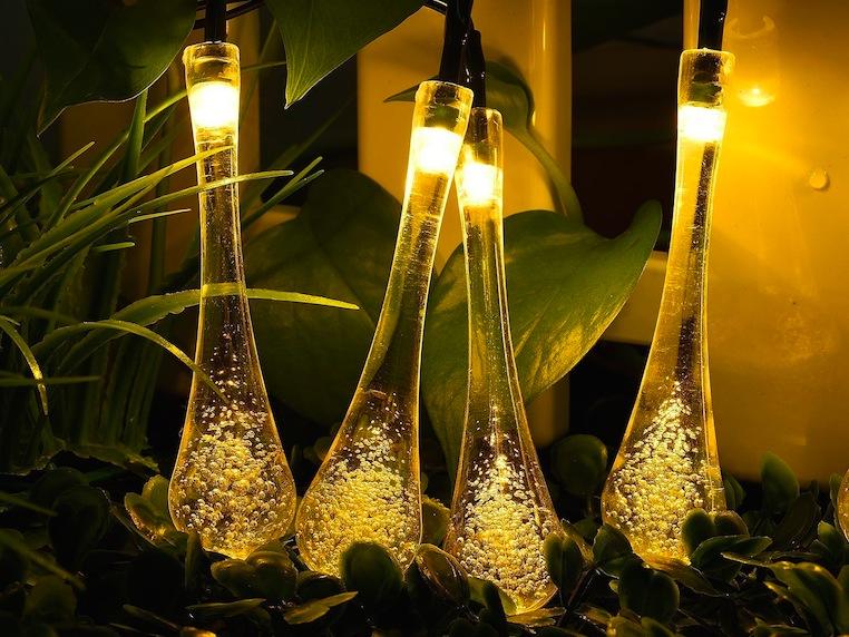 illuminazione a gocce solari
