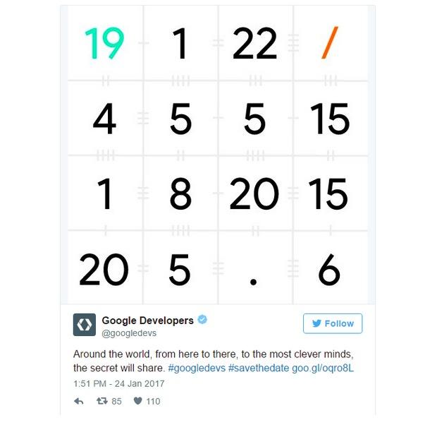 Google I:O 2017 twitter