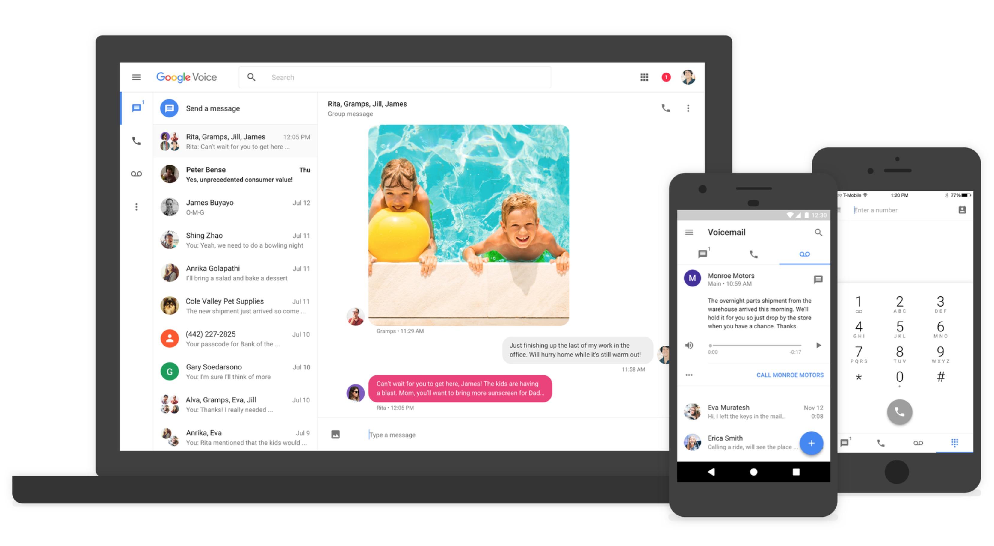 Google Voice, si rinnova con nuova grafica