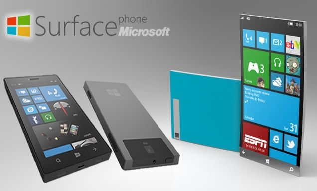 Microsoft Surface Phone rendering