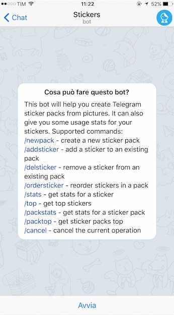 bot stickers telegram