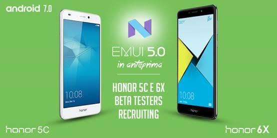 Honor 6X e Honor 5C in aggiornamento a Android 7 Nougat