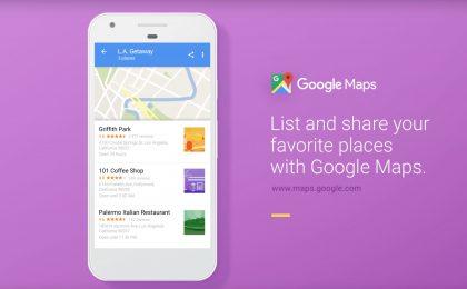 Google Maps introduce i luoghi preferiti