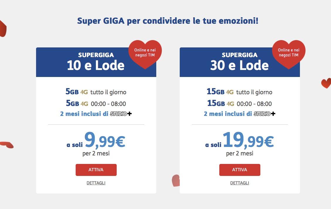 Offerta Super GIGA TIM San Valentino