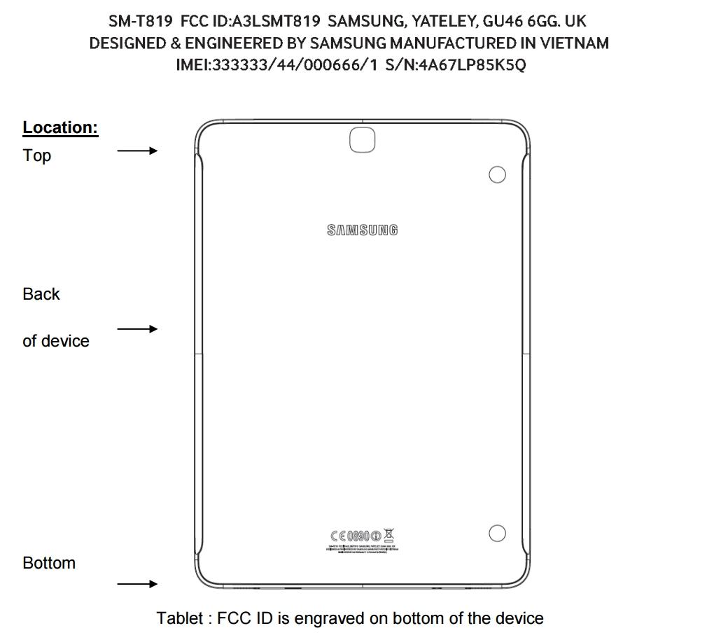 Samsung Galaxy Tab S3 9.7 SM T819
