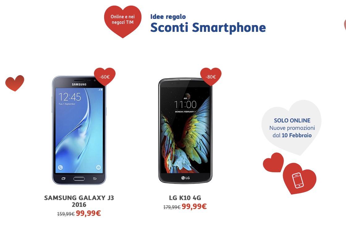 TIM San Valentino sconti smartphone