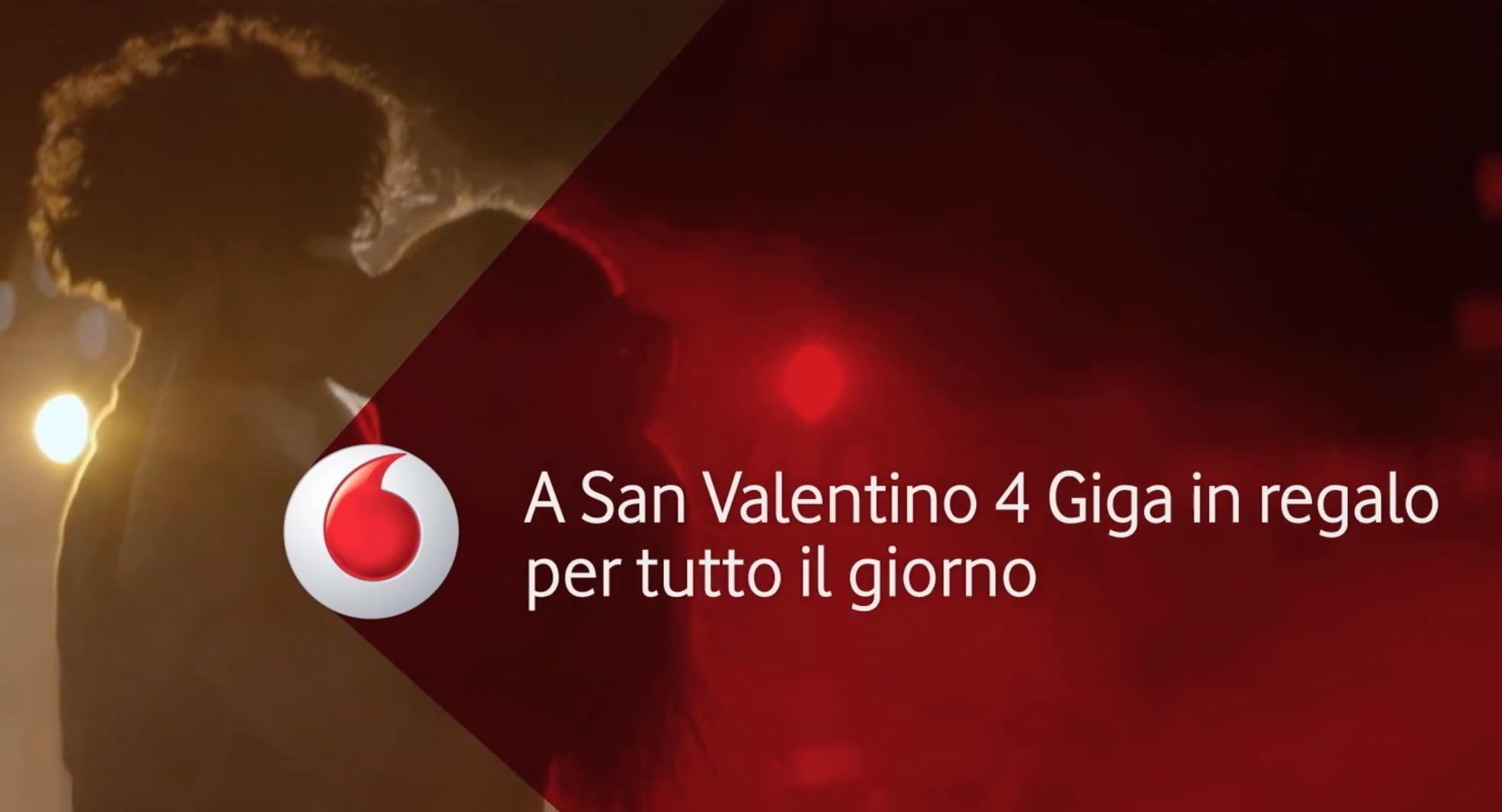 Vodafone promozione San Valentino: Internet in regalo per tutti i clienti