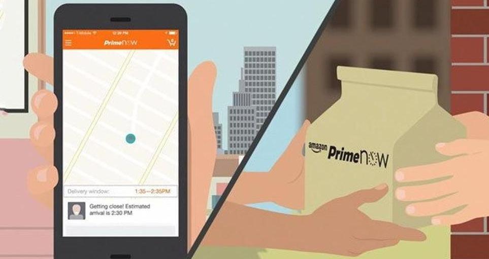 amazon prime now app per fare la spesa