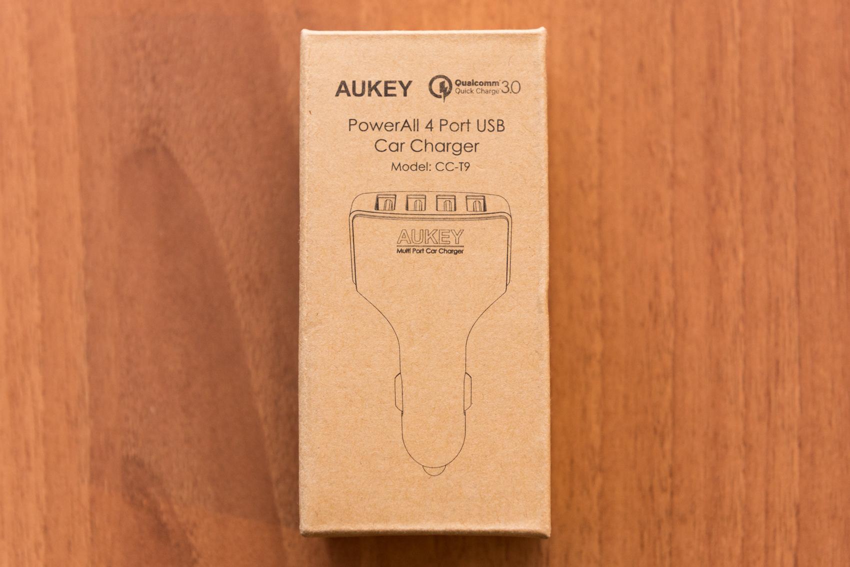 Caricabatterie auto AUKEY CC T9 unboxing