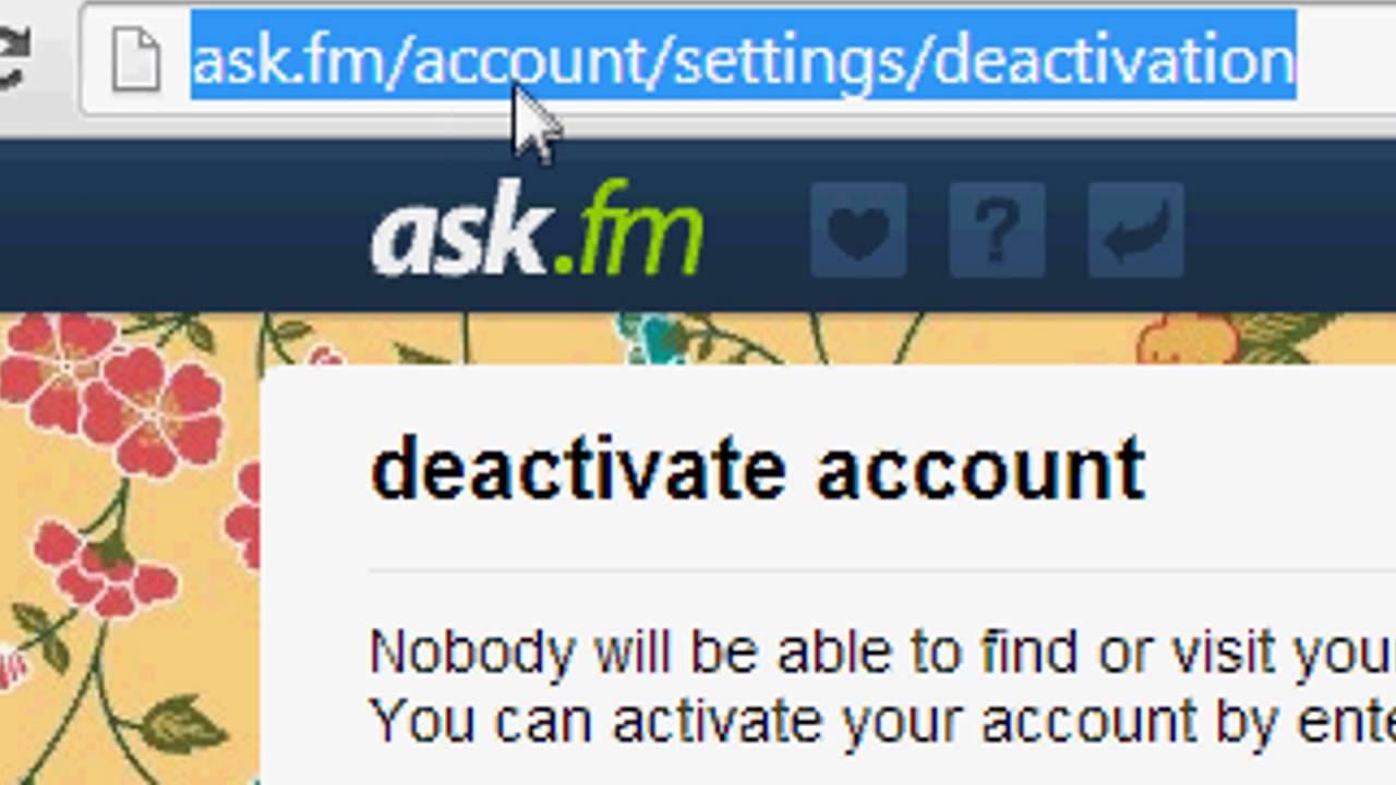 Disattiva Ask.fm