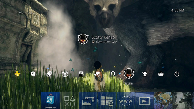 PlayStation 4 firmware 4.50 sfondi personalizzabili