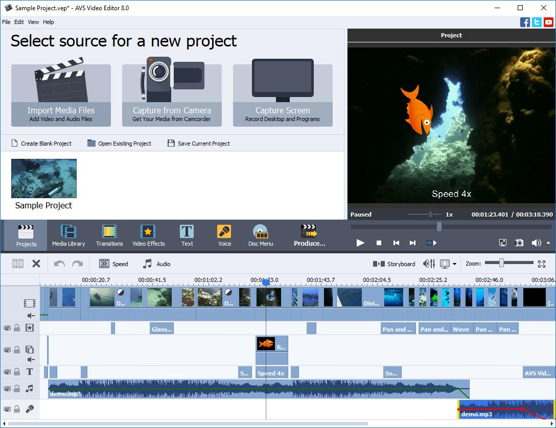 AVS Video Editor programmi per montare video