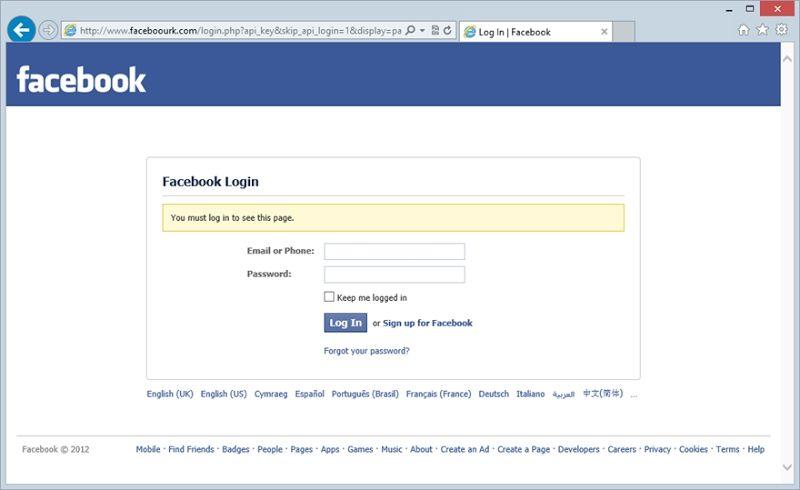 Accesso diretto Facebook