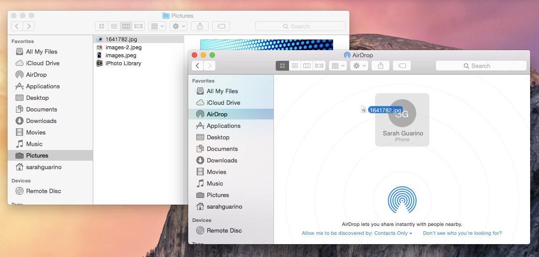 AirDrop su Mac
