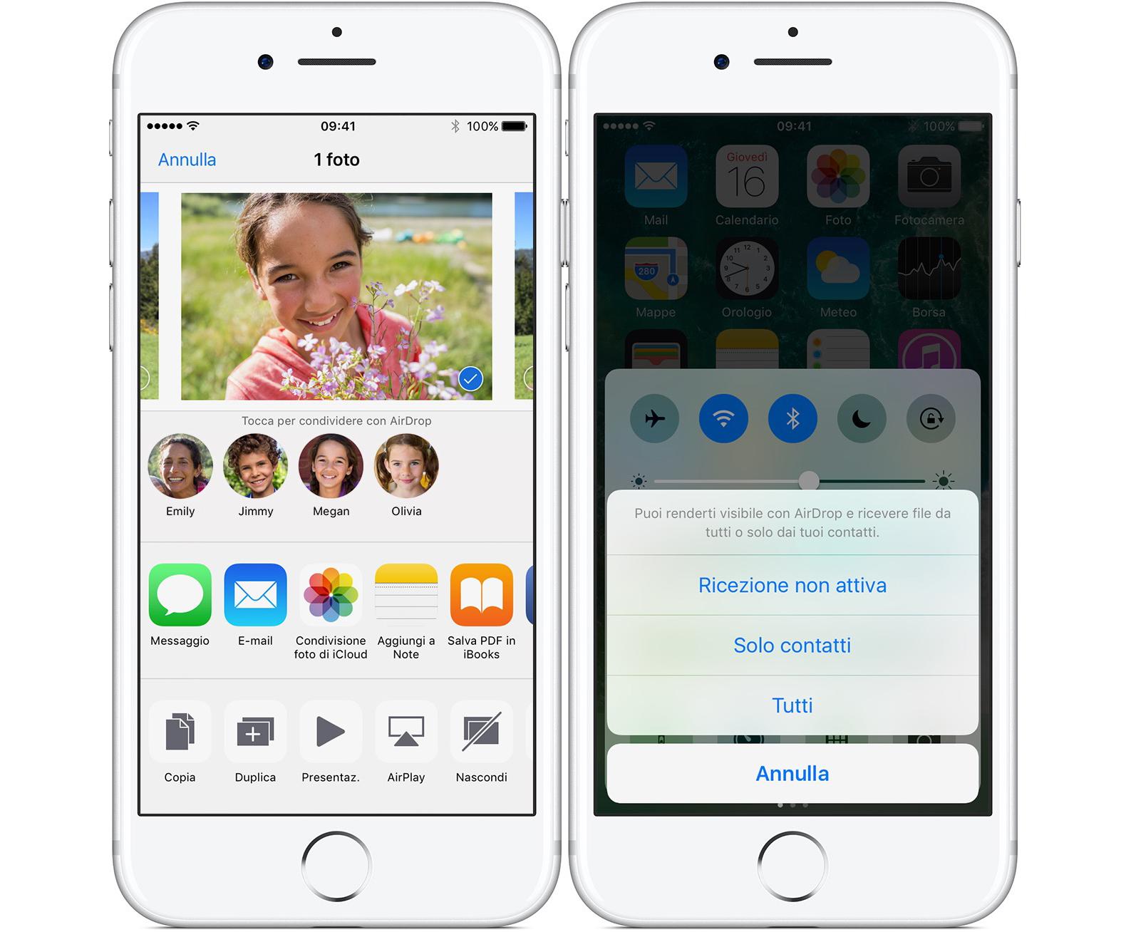 AirDrop su iPhone
